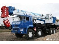 Аренда автокрана-вездехода 50 тонн, Галичанин КС-65715-3