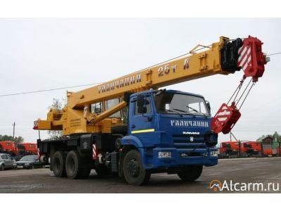 Аренда автокрана 25 тонн, Галичанин KC-55713-1В