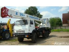 Аренда  автокрана-вездехода 25 тонн, Галичанин KC-55713-5В