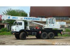 Аренда  автокрана-вездехода «Галичанин» KC-55713-5В, 25 тонн