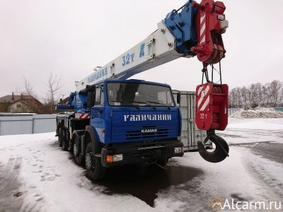 Аренда автокрана Галичанин КС-55729-1B, 32 тонны