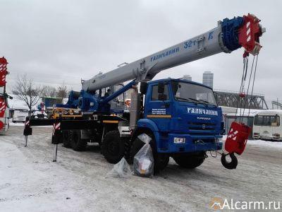 Аренда автокрана-вездехода 32 тонн, Галичанин КС-55729-5В