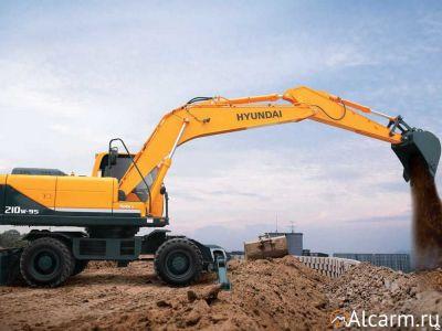Аренда колесного экскаватора Hyundai R210W-9S