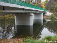 Строительство моста через реку Лопастня