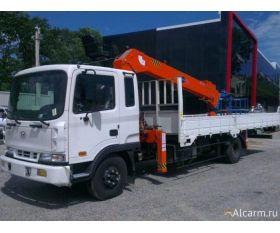 Кран-манипулятор 4,6 тонн Hyundai HD 120 с КМУ Fassi F120 круглосуточно
