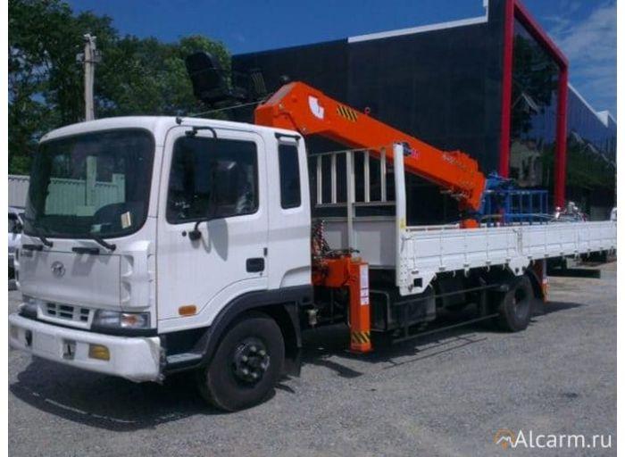 Аренда манипулятора 4,6 тонн, Hyundai HD 120 с КМУ Fassi F120