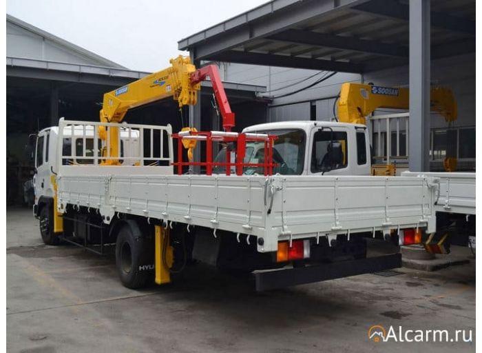 Аренда манипулятора 5,3 тонн, Hyundai HD 120 с КМУ Soosan 514