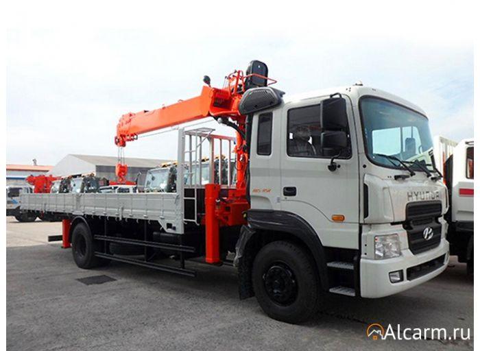 Аренда манипулятора 7,5 тонн, Hyundai HD 170 с КМУ Kanglim 2056