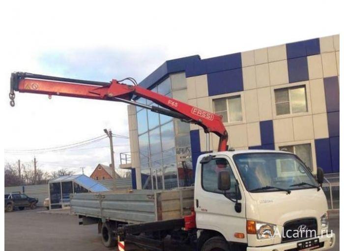 Аренда манипулятора 3 тонн, Hyundai HD 78 c КМУ Fassi 65