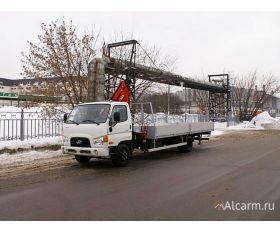 Кран-манипулятор 3 тонн Hyundai HD 78 c КМУ Fassi 65 круглосуточно