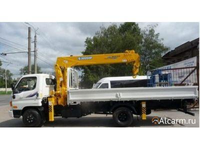 Аренда манипулятора 3,2 тонн, Hyundai HD 78 c КМУ Soosan 334