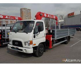 Кран-манипулятор 3 тонн Hyundai HD 78 с КМУ UNIC URV 373 круглосуточно