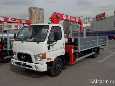 Аренда манипулятора 3 тонн, Hyundai HD 78 с КМУ UNIC URV 373