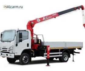 Кран-манипулятор 2.9 тонн ISUZU ELF 7.5 с КМУ UNIC круглосуточно