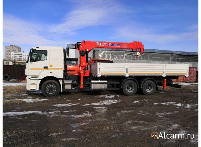 Аренда манипулятора 7 тонн, КАМАЗ 65207 с КМУ KANGLIM KS1256G-II
